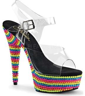 Pleaser USA Delight 608RBS Ankle Strap Sandal (Women's)