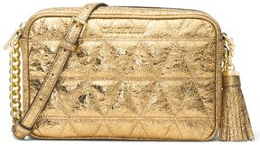 MICHAEL Michael Kors Ginny Shoulder In Quilted And Metallic Leather - GOLD - STYLE