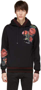 Dolce & Gabbana Black Patches Hoodie