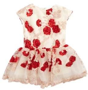 Halabaloo Infant Girl's Floral Sequin Dress