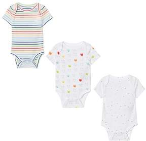 Gap Pack Of 3 White Patterned Bodies