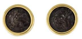 Bvlgari 18K Monete Coin Clip-On Earrings