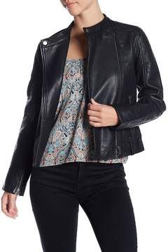 Cupcakes And Cashmere Deana Leather Moto Jacket
