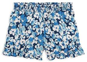 Polo Ralph Lauren Girls' Ruffled Floral-Print Shorts - Little Kid