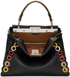 Fendi Black Eyelets Mini Peekaboo Bag