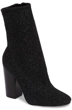 KENDALL + KYLIE Women's Hailey Glitter Sock Bootie