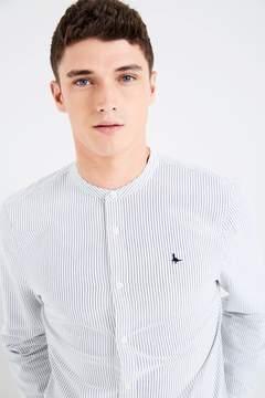 Jack Wills Heton Grandad Collar Stripe Shirt