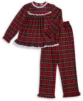 Little Me Little Girl's Two-Piece Plaid Pajama Set
