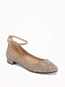 Old Navy Sueded Ankle-Strap Ballet Flats for Women
