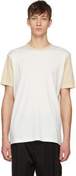 Off-White Ziggy Chen and Beige Jersey T-Shirt