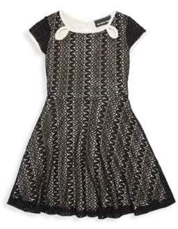 Un Deux Trois Little Girl's & Girl's Keyhole Lace Dress