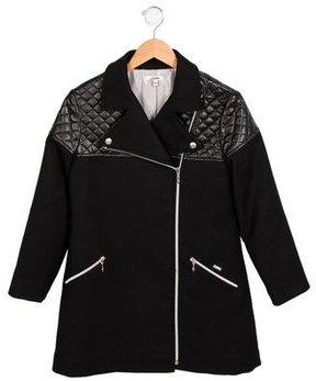 Junior Gaultier Girls' Contrast Coat