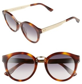 Jimmy Choo Women's 'Pepys' 50Mm Retro Sunglasses - Havana