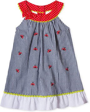 Rare Editions Seersucker Ladybug Sundress, Baby Girls