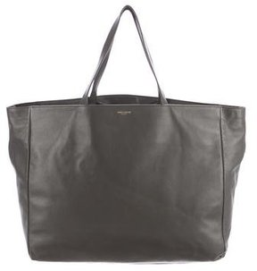 Saint Laurent Leather Museum Tote - GREY - STYLE