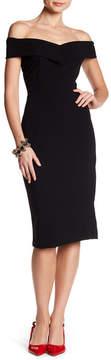 ECI Off the Shoulder Scuba Crepe Back Dress