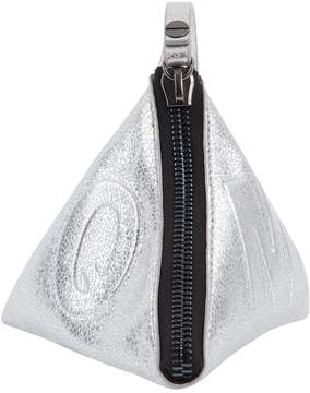 McQ Silver Leather Clutch Bag