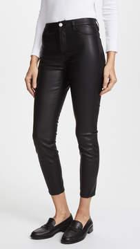 Blank The Principle Mid Rise Vegan Leather Skinny Pants