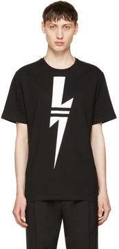 Neil Barrett Black and White Thunderbolt T-Shirt