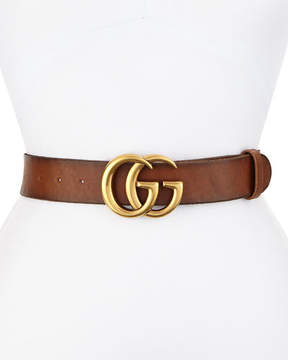 Gucci Leather Logo-Buckle Belt