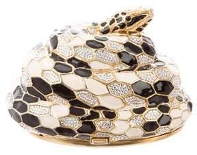 Judith Leiber Crystal Embellished Snake Minaudière