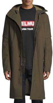 Helmut Lang Flat-Hood Zip-Front Long Coat