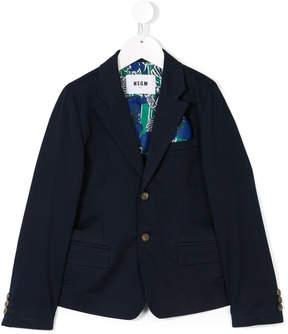 MSGM handkerchief pocket blazer
