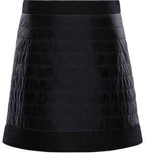 Moncler Quilted Skirt w/ Wool-Trim, Size 4-6