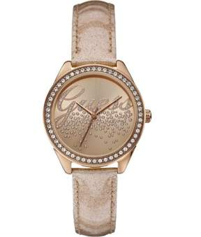 GUESS W0161L1 Women's Gold Leather Band With Bronze Analog Dial Genuine Watch