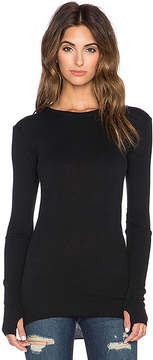 Enza Costa Cashmere Cuffed Long Sleeve Tee