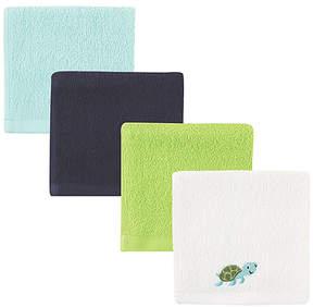 Luvable Friends Green Turtle Washcloth Set - Infant