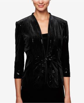 Alex Evenings Sequined Velvet Jacket & Shell
