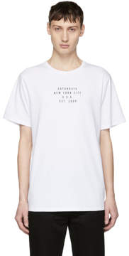 Saturdays NYC White Established Logo T-Shirt