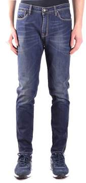 Hosio Men's Blue Cotton Jeans.