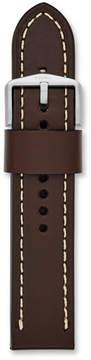 Fossil 22mm Dark Brown Leather Watch Strap