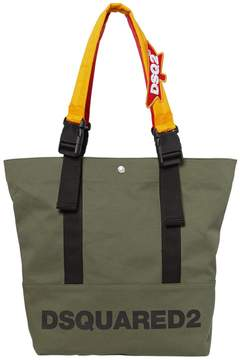 DSQUARED2 Backpack Straps Logo Canvas Tote Bag