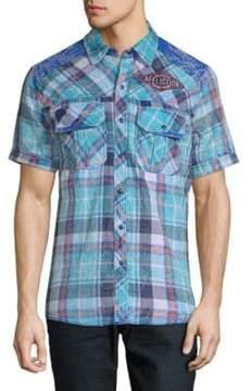 Affliction Lagoon CHeck Short Sleeve Shirt