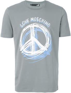 Love Moschino Peace print T-shirt