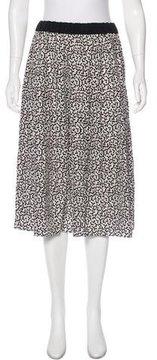 Piamita Silk Abstract Print Skirt