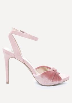 Bebe Alessa Velvet Sandals