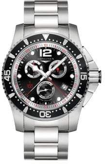 Longines HydroConquest Stainless Steel Chronograph Bracelet Watch