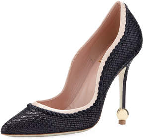 Roger Vivier Two-Tone Woven Scalloped Pump