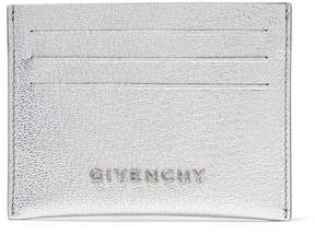 Givenchy Pandora Metallic Textured-leather Cardholder - Silver