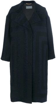 Alberta Ferretti oversized jacquard coat