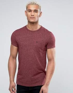 Jack Wills Ayleford Slim Fit Pocket T-Shirt In Damson