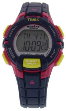 Timex Ironman 30 Lap Memory Chrono Full Size Watch Dark Purple/Pink/Yellow