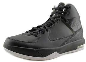 Jordan Air Incline Youth Round Toe Leather Black Basketball Shoe.