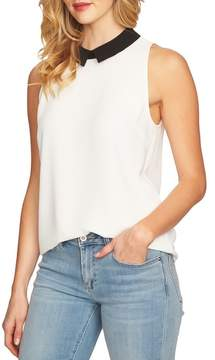CeCe Sleeveless Collared Blouse