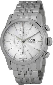 Oris Artelier Chronograph Silver Dial Stainless Steel Men's Watch