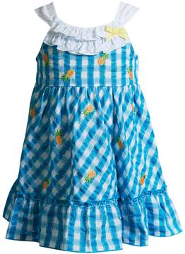 Youngland Toddler Girl Plaid Pineapple Ruffle Sundress